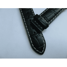 C610016926 BLACK LEATHER STRAP 19/18 MM, WITHOUT BUCKLE