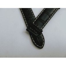 C610016938 BLACK LEATHER STRAP 20/18 MM, WITHOUT BUCKLE