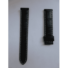 C610016929 BLACK LEATHER STRAP 19/18 MM, WITHOUT BUCKLE, XL